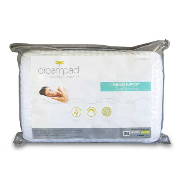 Dreampad Memory Support - Music Relaxation Pillow with Intrasound Technology